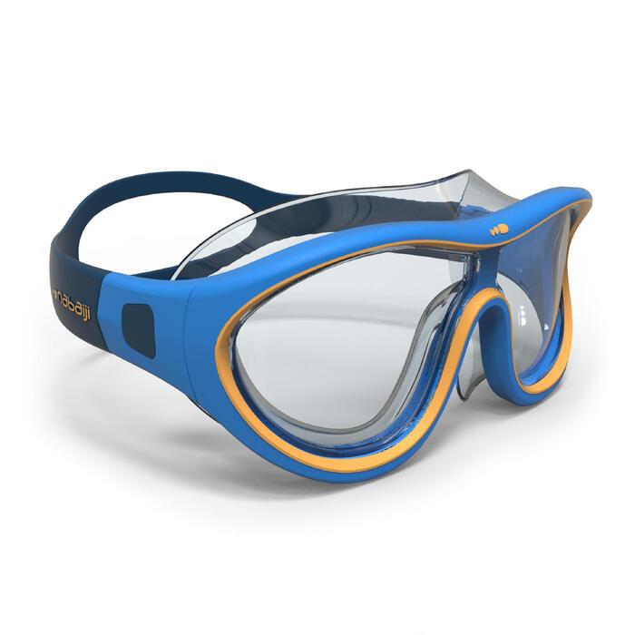 Zwembril 100 Swimdow maat S blauw/groen