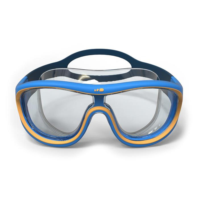 Masque de natation 100 SWIMDOW Taille S Bleu Jaune