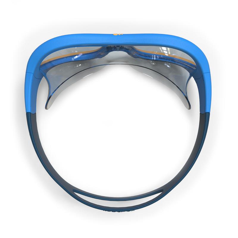 Máscara de natación 100 SWIMDOW Talla S Azul Amarillo