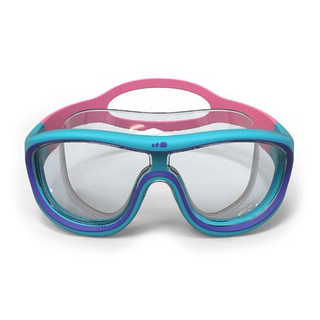Masque de natation 100 SWIMDOW Taille P bleu rose