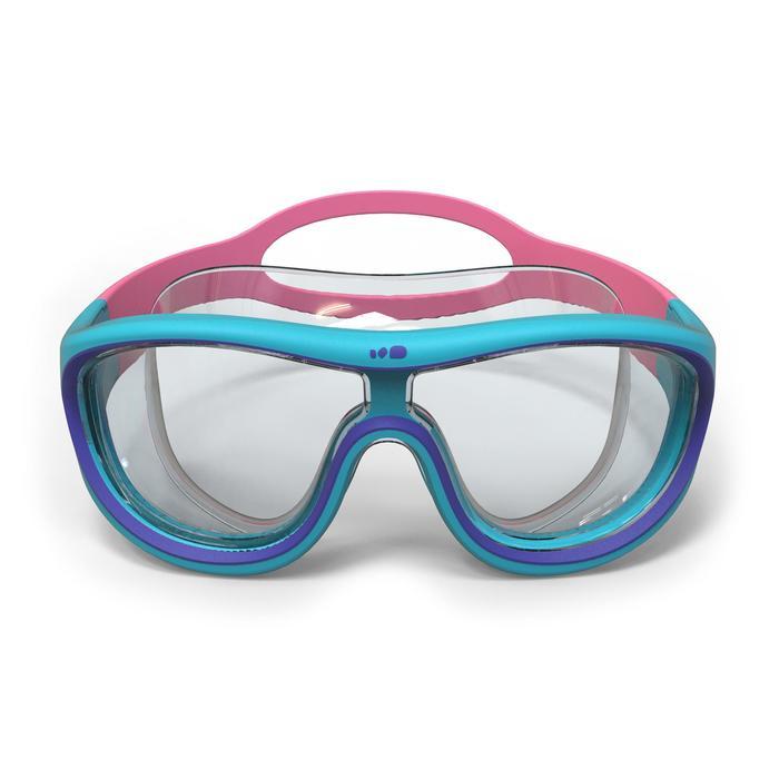 Máscara de Natación 100 Swimdow Azul Rosa Talla S