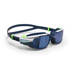泳鏡500 SPIRIT,S號 - 藍色綠色,鏡面鏡片