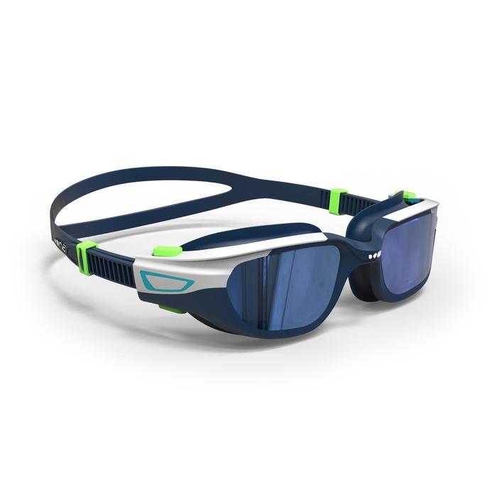 500 SPIRIT鏡面鏡片泳鏡 S號 藍綠色