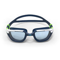 500 SPIRIT Swimming Goggles, Size L - Blue Green, Clear Lenses