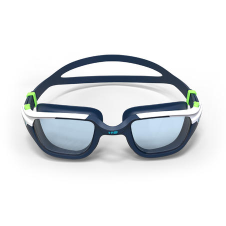 SPIRIT 500 Size L Swimming Goggles Blue Green Clear Lenses