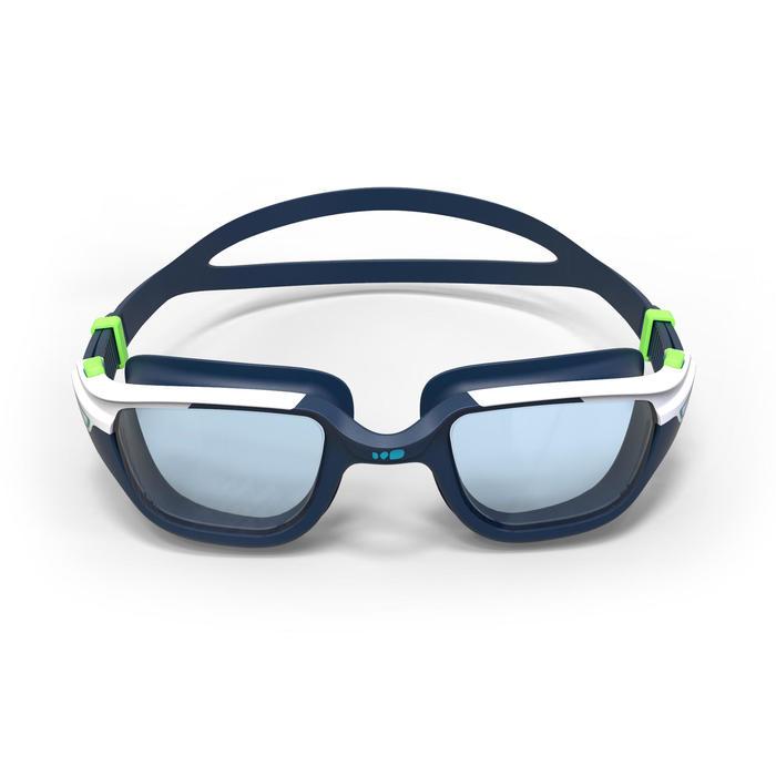 Gafas de natación 500 SPIRIT Talla L Azul/Verde Cristales claros