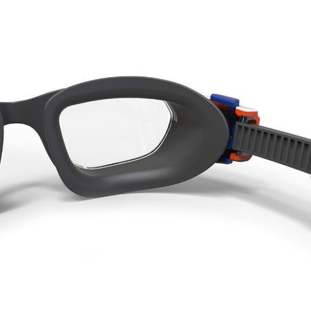 Goggles de natación 500 SPIRIT Talla CH Naranja Azul cristales claros