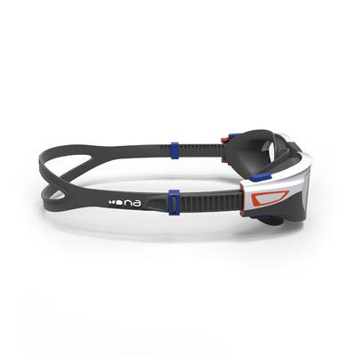 نظارات سباحة 500 SPIRITمقاس S - برتقالي/أزرق - عدسات واضحة