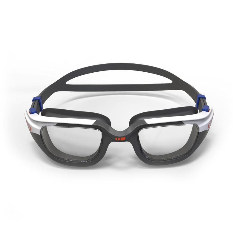 Lentes de natación 500 SPIRIT Talla S Naranja Azul cristales claros