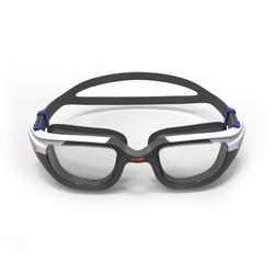 Lunettes de natation 500 SPIRIT Taille S Orange Bleu verres clairs