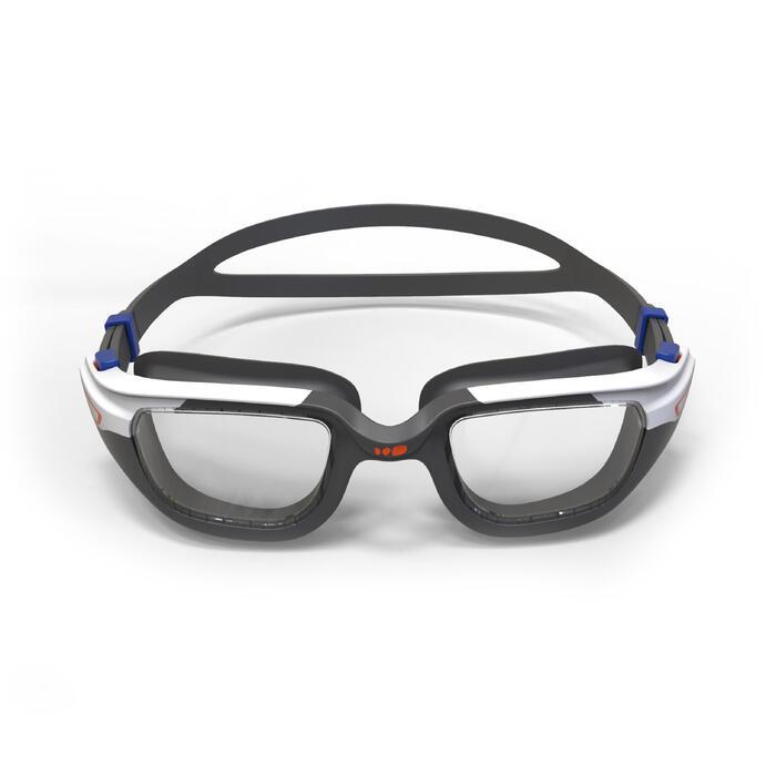 Zwembrilletje Spirit maat S oranje/blauw lichte glazen
