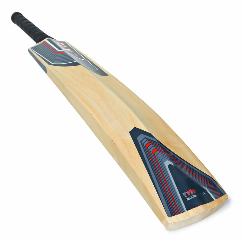 T990 ADULTS KASHMIR WILLOW ADVANCED CRICKET BAT, GREY