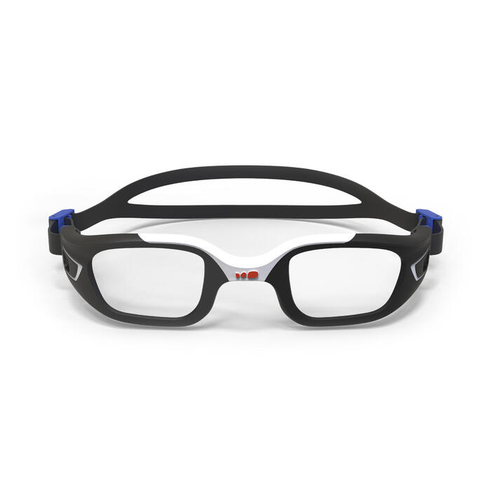Montura para gafas de natación 500 SELFIT, talla L, naranja azul