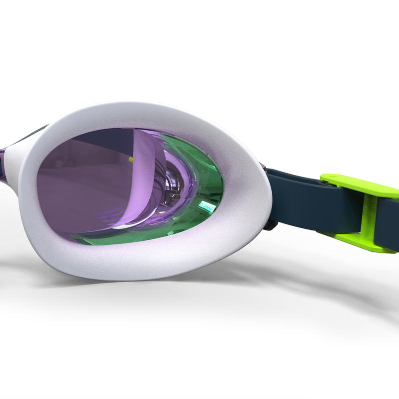 SWIMMING GOGGLES 500 B-FIT BLUE GREEN MIRRORED LENSES