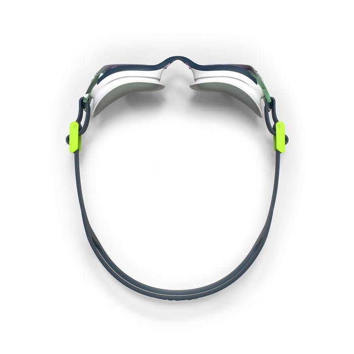 500 B-FIT鏡面鏡片泳鏡 藍綠色