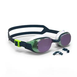 500 B-FIT Swimming Goggles - Blue Green, Mirror Lenses