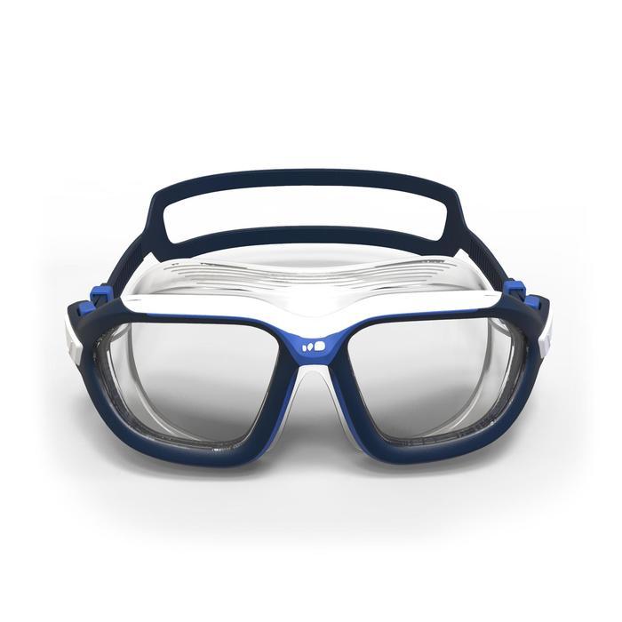 Zwembril Active 500 maat L wit blauw heldere glazen