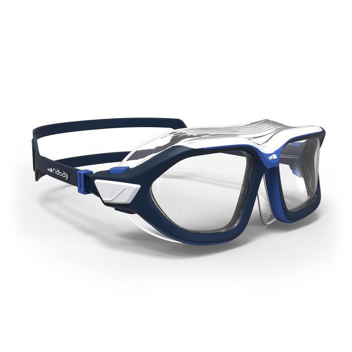 Schwimmmaske klar 500 Active Größe L blau