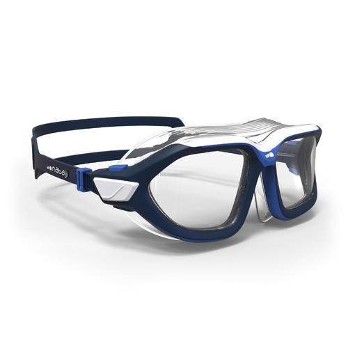 masque de piscine 500 active taille L bleu verres clairs