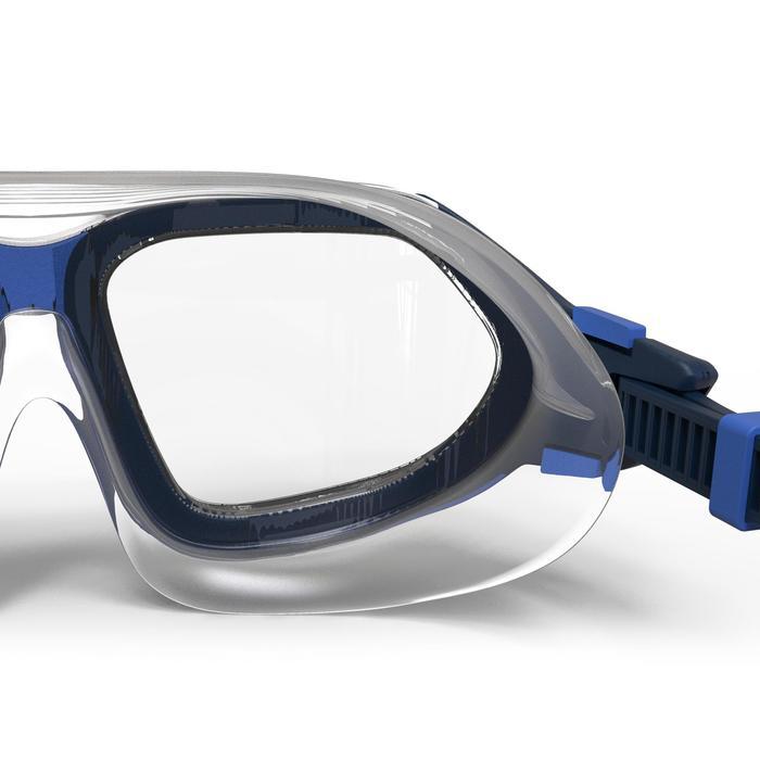 Gafas de natación 500 ACTIVE talla L Azul cristales claros