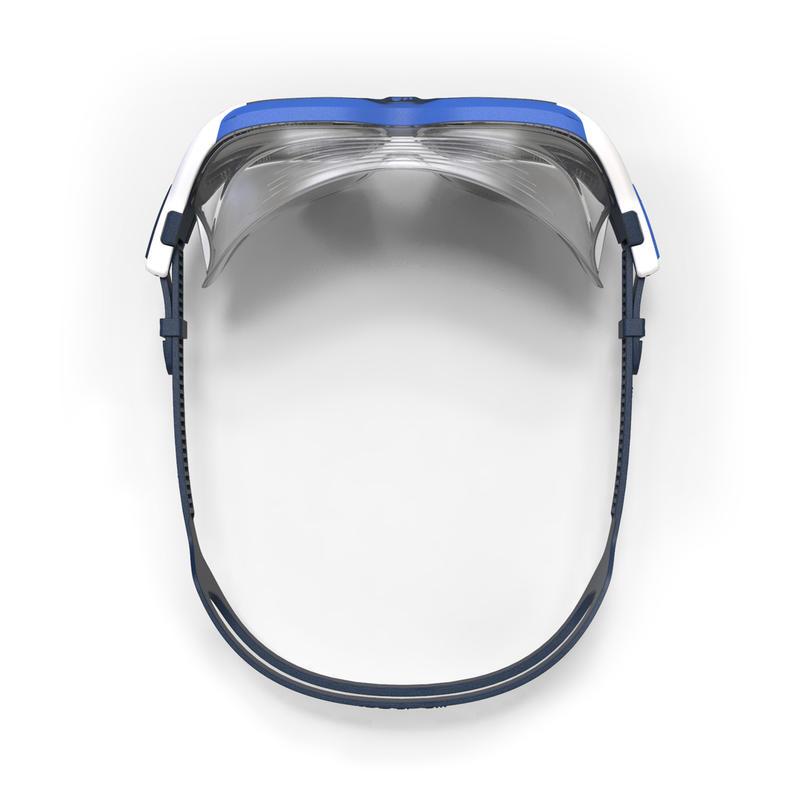 Máscara de natación 500 ACTIVE talla L Blanco Azul cristales ahumados