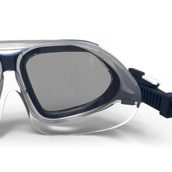 Schwimmmaske getönt 500 Active Größe L weiß/ blau