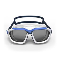 Masque de natation 500 ACTIVE taille G Blanc Bleu verres fumés