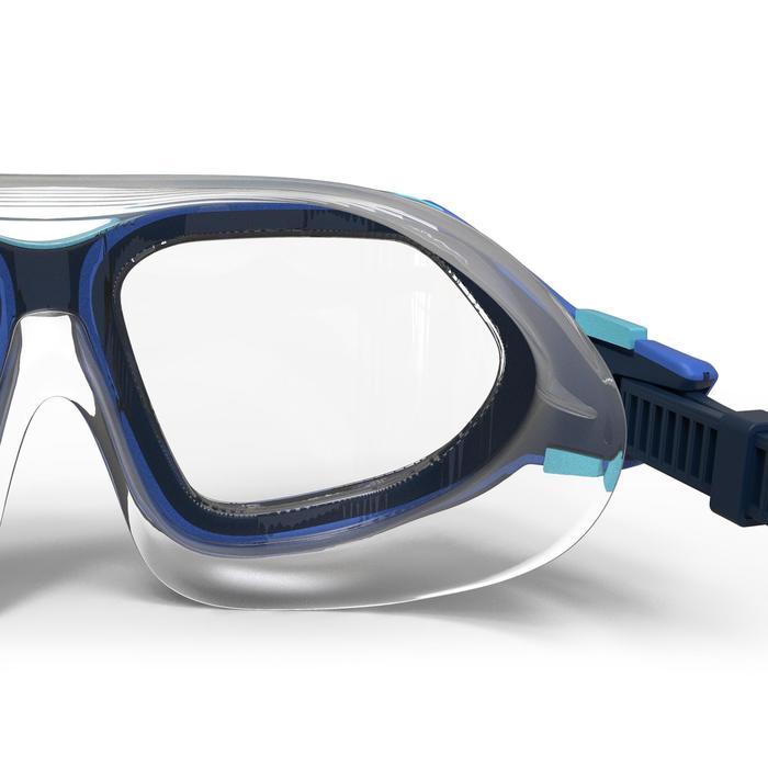 Schwimmbrille Active Größe S blau ungetönte Gläser