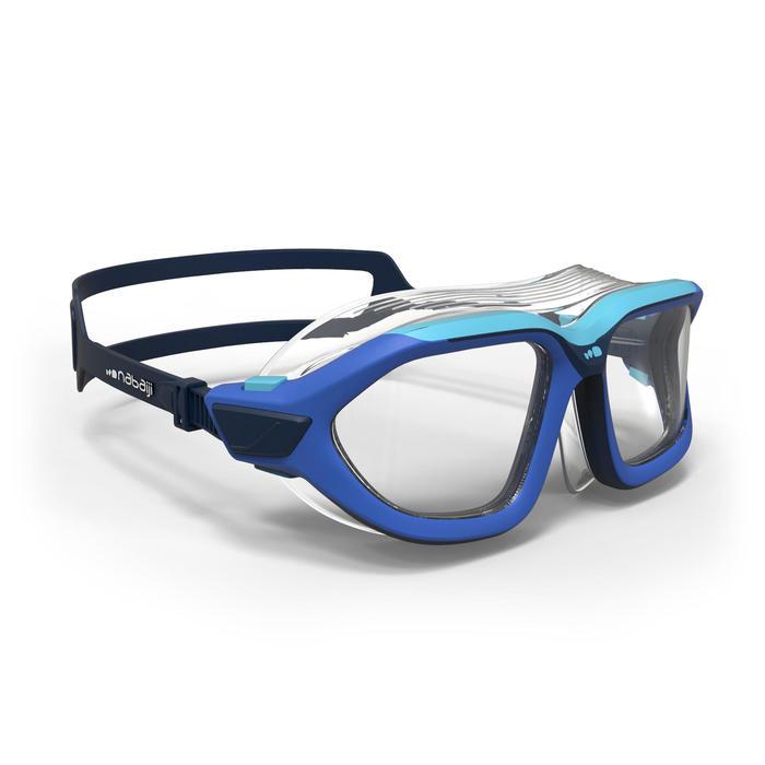 Máscara de natación 500 ACTIVE talla S Azul cristales claros