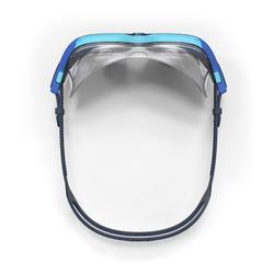Zwemmasker Active 500 maat S blauw lichte glazen