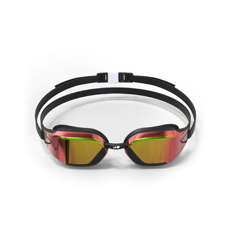 Kacamata Renang B-Fast 900 - Hitam Merah, Lensa Cermin