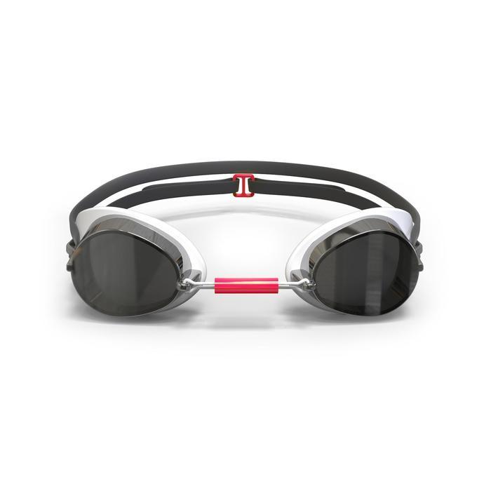 Zweedse zwembril 900 wit/rood spiegelglas