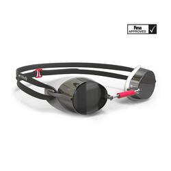 Óculos de natação 900 SUECOS Branco Vermelho lentes espelhadas