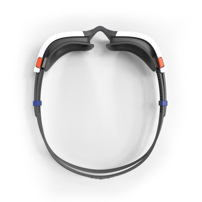 Zwembril 500 Spirit maat S spiegelglas oranje/blauw