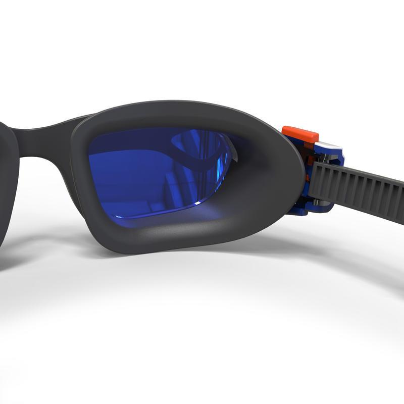 Lentes de natación 500 SPIRIT Talla S naranja azul cristales espejo