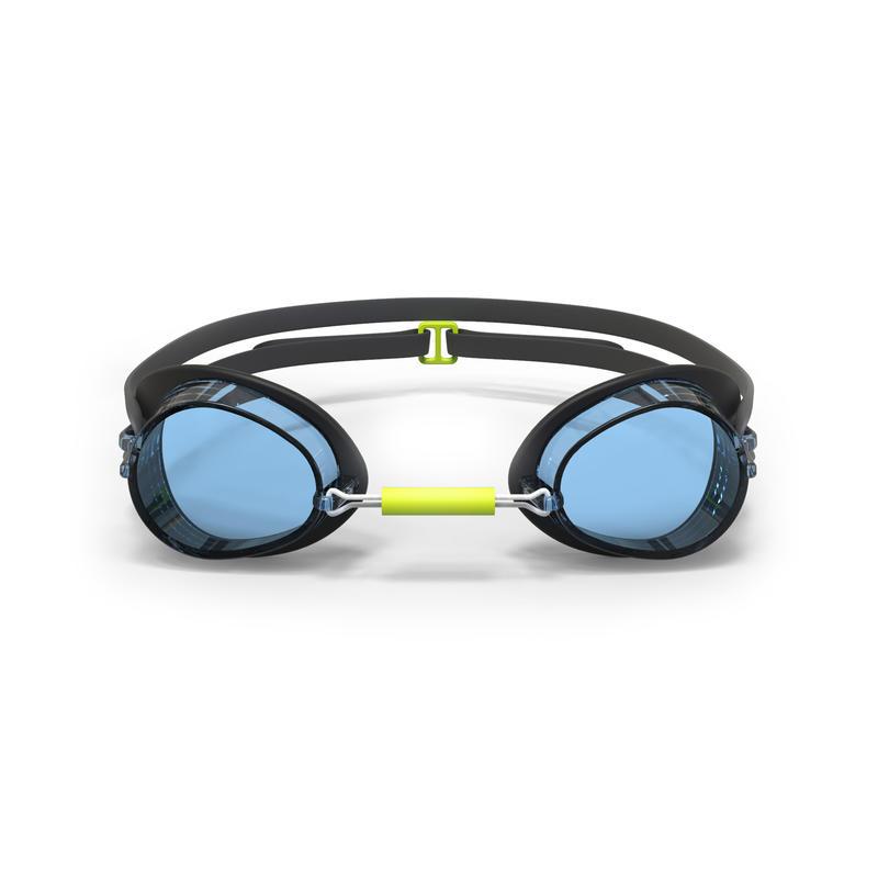 Lentes de natación 900 Suecos Negro Azul cristales claros
