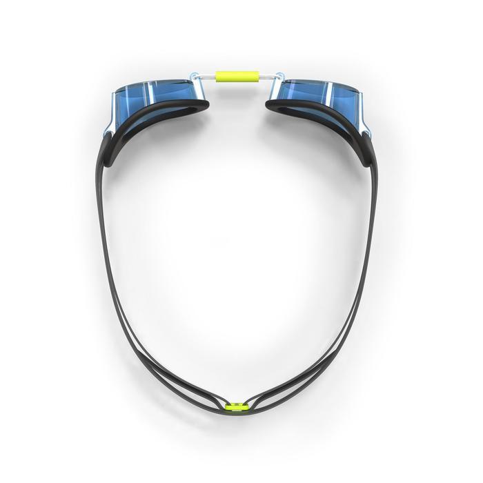 Zweedse zwembril 900 zwart/blauw transparante glazen
