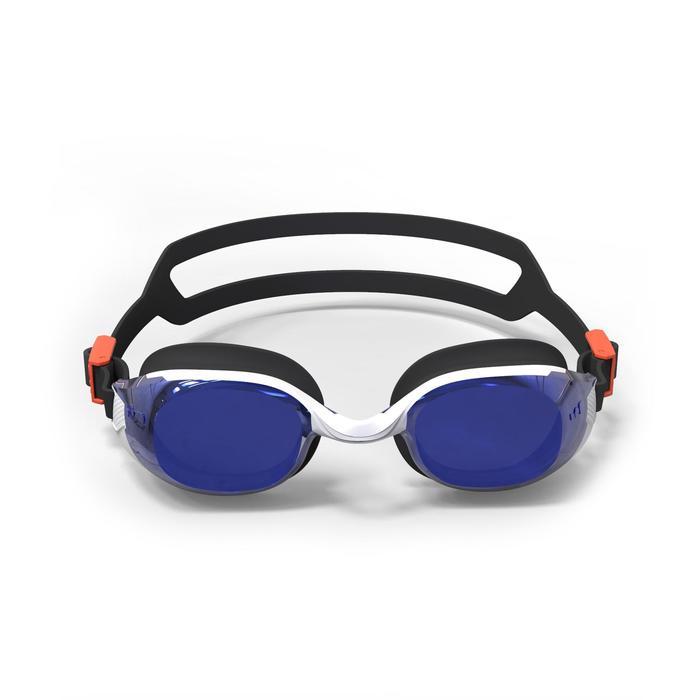 Lunettes de natation 500 B-FIT Orange Bleu verres miroir