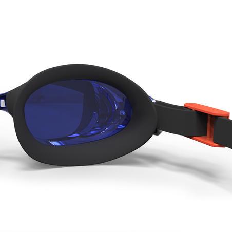 SWIMMING GOGGLES BFIT MIRROR LENSES - BLUE/ORANGE