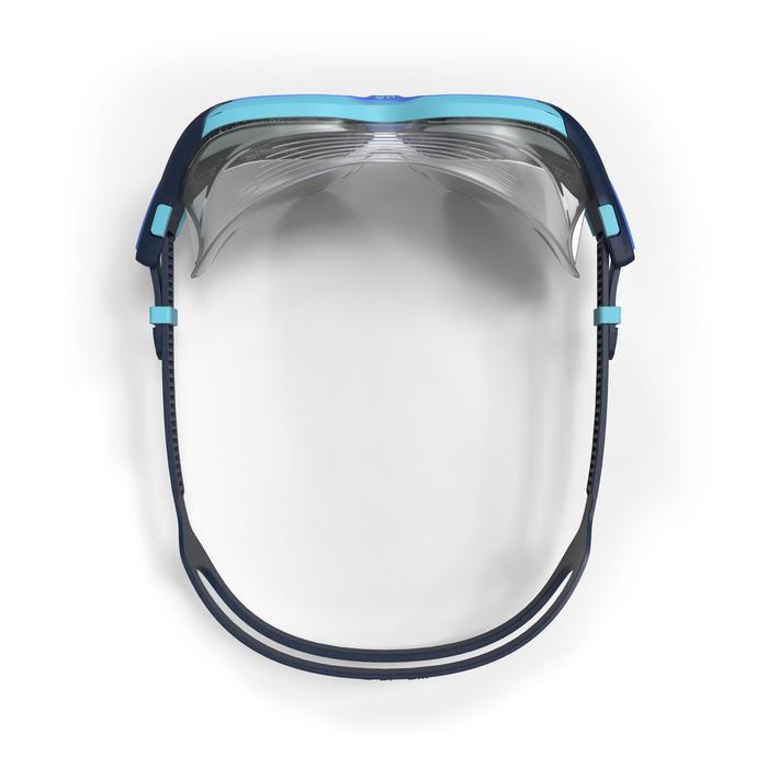 S號深色鏡片游泳面鏡Active Asia 500-藍色