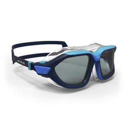 游泳面鏡500 ACTIVE ASIA,S號,藍色,深色鏡片