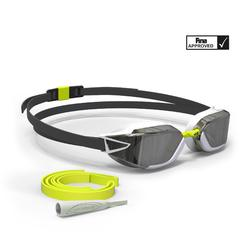 900 B-FAST Swimming Goggles - Black Yellow, Mirror Lenses