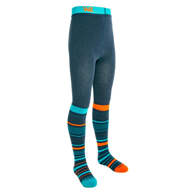 Dětská punčochové kalhoty modro-oranžové