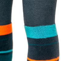 CHILDREN'S SKIING TIGHTS-SOCKS BLUE ORANGE