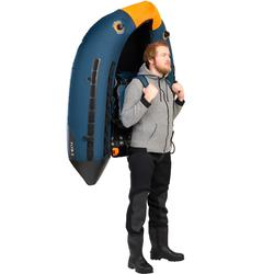 FLOAT TUBE PÊCHE AUX LEURRES FLTB-5 BLEU / ORANGE