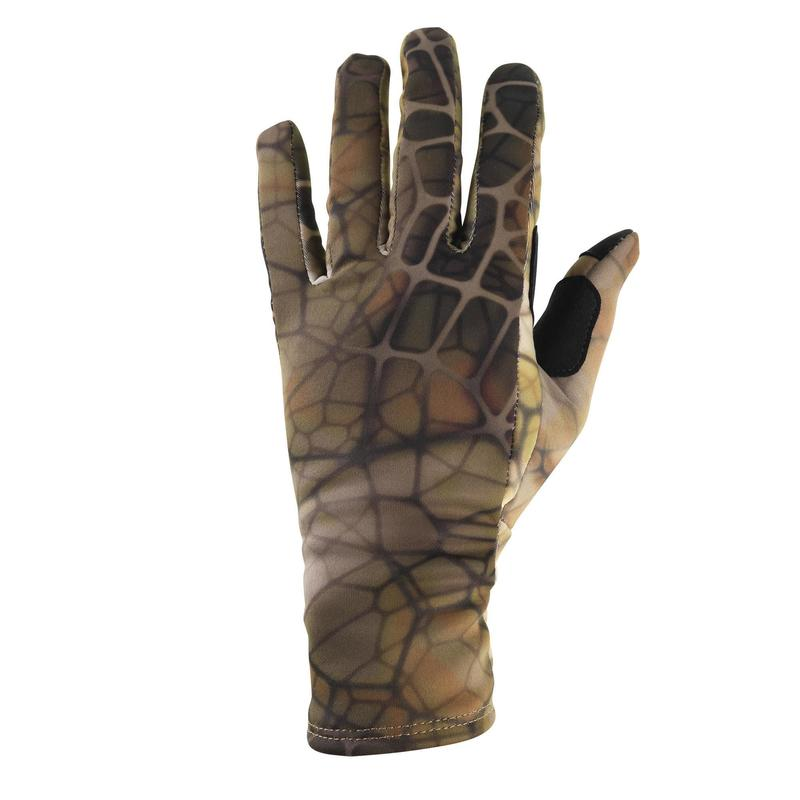 Gants chasse polyester fin - Furtiv 500 - camouflage