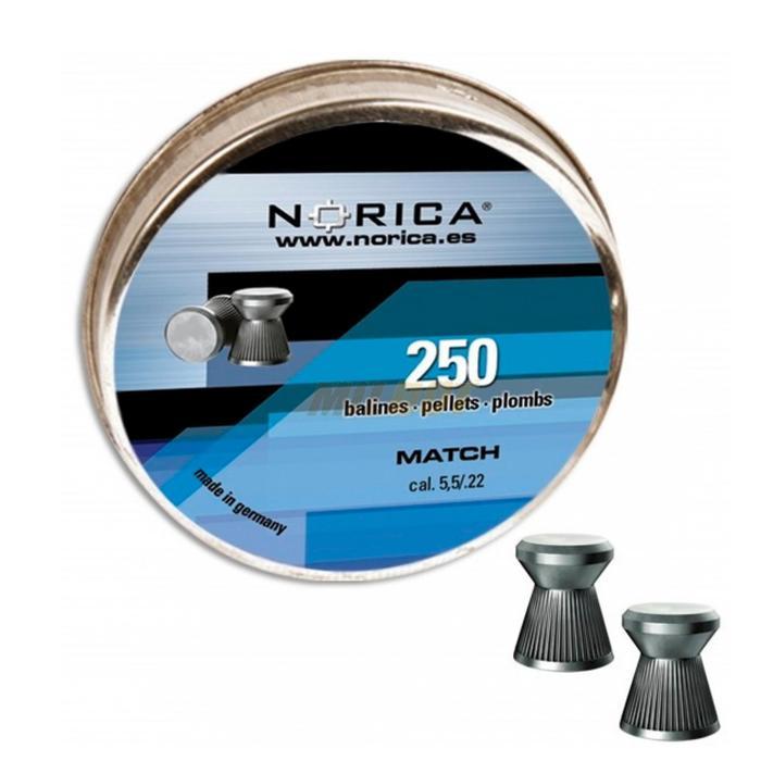 Perdigones Tiro Deportivo Norica Plano Calibre 5,5 mm 250 Unidades
