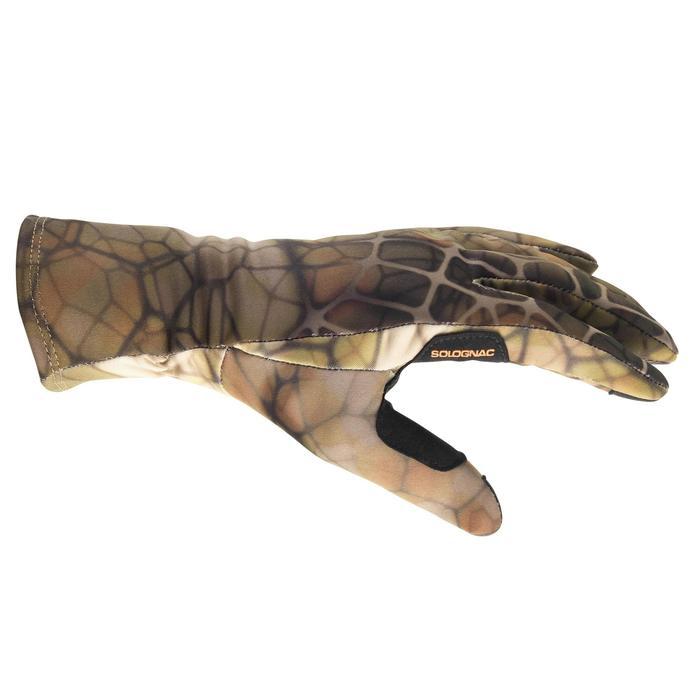 Jagd-Handschuhe Warm 500 Camouflage FURTIV