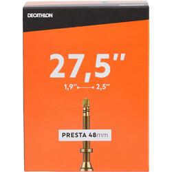 Fahrradschlauch 27,5 Zoll × 1,9/2,5 französisches Ventil (Presta) 48mm
