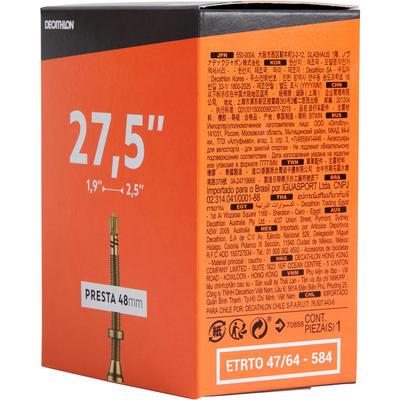 NEUMÁTICO RIN 27,5x1,9/2,5 VÁLVULA PRESTA 48 mm